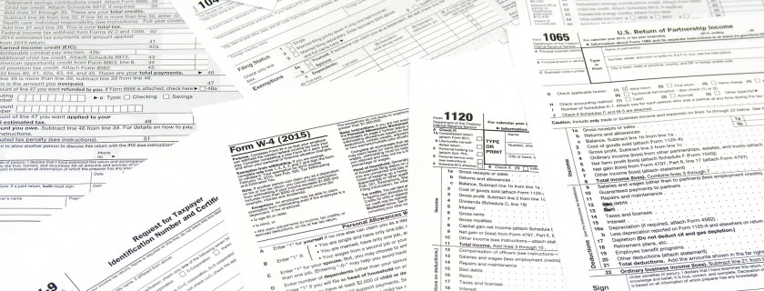 various blank USA tax forms